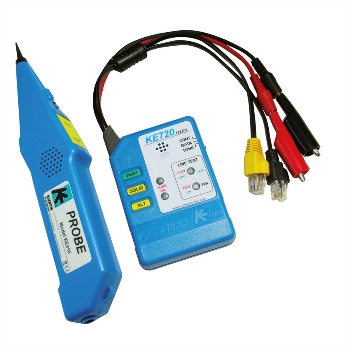 kurth ke701 kit chercheur de câbles - easytest720 et probe410